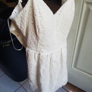 Pretty strap white dress Small(never worn